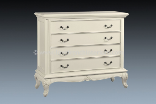 Candice Four Drawer Chest in Antique White